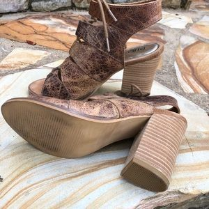 Diba True distressed leather sandals